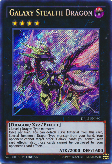 Galaxy Stealth Dragon - DRL3-EN030 - Secret Rare