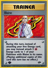 Blaine - 100/132 - Rare - 1st Edition