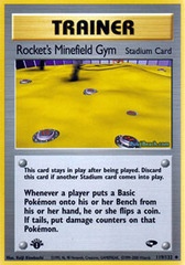 Rocket's Minefield Gym - 119/132 - Uncommon - 1st Edition