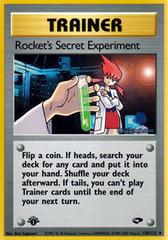 Rocket's Secret Experiment - 120/132 - Uncommon - 1st Edition