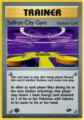 Saffron City Gym - 122/132 - Uncommon - 1st Edition