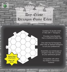 Dry Erase Dungeon Tiles - Combo Pack of Thirty Three 6