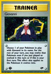 Giovanni - 18/132 - Holo Rare - 1st Edition on Channel Fireball
