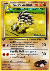 Brock's Sandslash - 36/132 - Uncommon - 1st Edition
