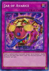 Jar of Avarice - MP16-EN033 - Secret Rare - 1st Edition