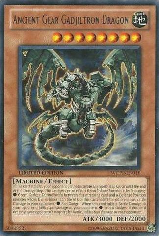 Ancient Gear Gadjiltron Dragon - WCPP-EN018 - Rare - Promo Edition