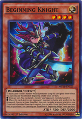 Beginning Knight - MP16-EN123 - Super Rare - 1st Edition on Channel Fireball