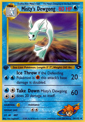 Misty's Dewgong - 54/132 - Uncommon - 1st Edition