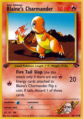 Blaine's Charmander - 60/132 - Common - 1st Edition
