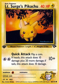 Uncommons Commons Rares Pokemon Gym Challenge 1st Edition Card Selection