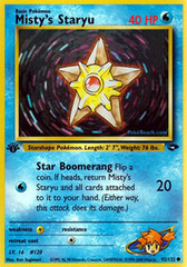 Misty's Staryu - 92/132 - Common - 1st Edition