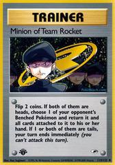 Minion of Team Rocket - 113/132 - Uncommon - 1st Edition