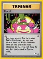 Recall - 116/132 Uncommon - 1st Edition