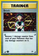 Brock - 15/132 - Holo Rare - 1st Edition