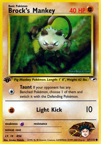 Brocks Mankey - 67/132 - Common - 1st Edition