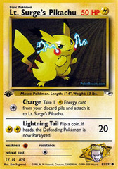 Lt. Surge's Pikachu - 81/132 - Common - 1st Edition
