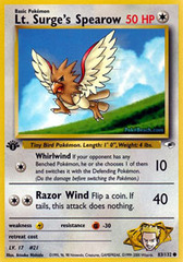 Lt. Surge's Spearow - 83/132 - Common - 1st Edition