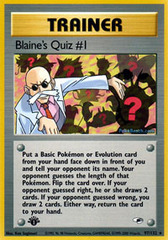 Blaine's Quiz #1 - 97/132 - Rare - 1st Edition
