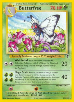 Butterfree - 21/110 - Rare