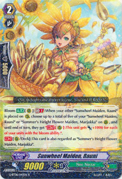 Sunwheel Maiden, Rauni - G-BT08/043EN - R