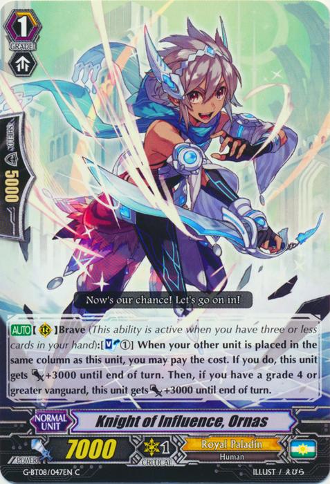 Knight of Influence, Ornas - G-BT08/047EN - C