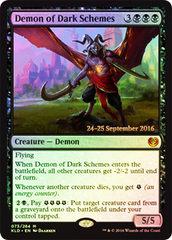 Demon of Dark Schemes - Kaladesh Prerelease Promo