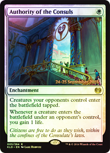 Authority of the Consuls - Foil - Prerelease Promo