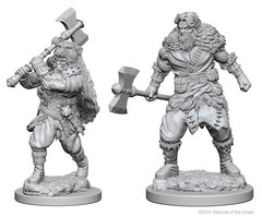 Nolzur's Marvelous Miniatures - Human Barbarian (Male) (W1)