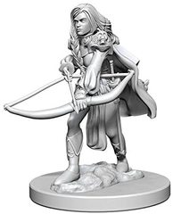 Pathfinder Battles Unpainted Minis - Human Female Fighter