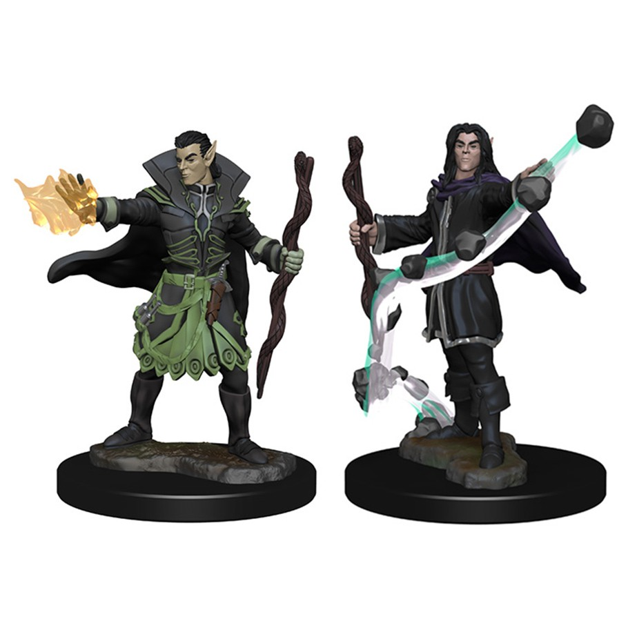 pathfinder battles unpainted minis elf male sorcerer miniatures