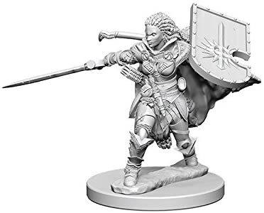 Pathfinder Battles Unpainted Minis - Human Female Paladin