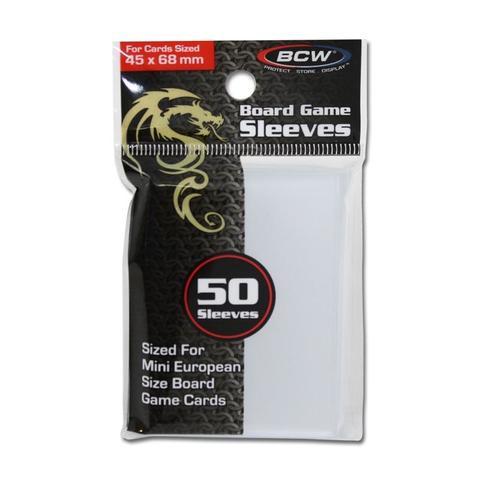 BCW Board Game Sleeves 50 Sleeves - 45mm x 68mm