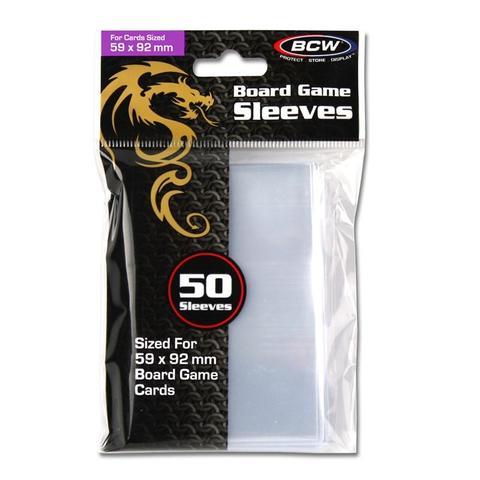 BCW Board Game Sleeves 50 Sleeves - 59mm x 92mm