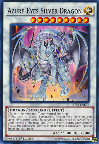 Azure-Eyes Silver Dragon - LDK2-ENK39 - Common - 1st Edition