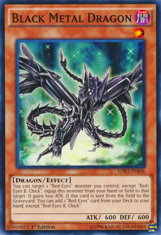 Black Metal Dragon - LDK2-ENJ06 - Common - 1st Edition
