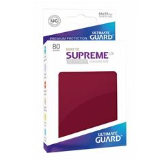 Ultimate Guard - Supreme UX Sleeves Standard Size - Matte - Burgundy (80)
