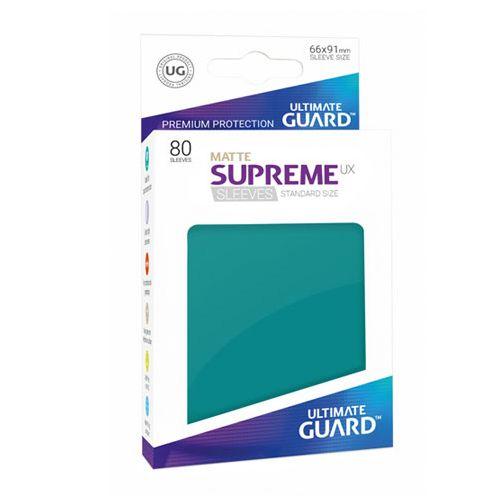 Ultimate Guard - Supreme UX Sleeves Standard Size - Matte - Petrol Blue (80)