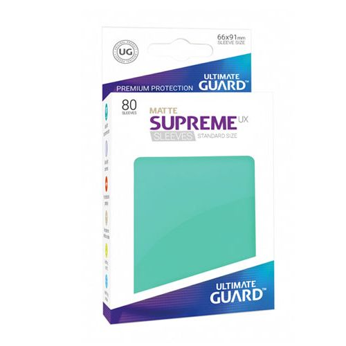 Ultimate Guard - Supreme UX Sleeves Standard Size - Matte - Turquoise (80)