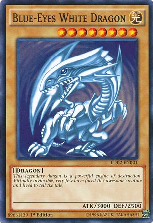 Blue-Eyes White Dragon (SDK art) - LDK2-ENK01  - Common - 1st Edition