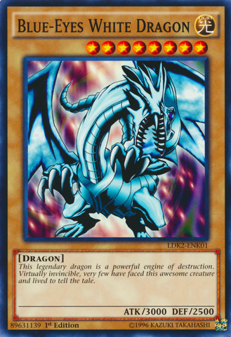 Blue-Eyes White Dragon (LOB art) - LDK2-ENK01  - Common - 1st Edition