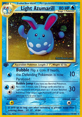 Light Azumarill - 13/105 - Holo Rare - 1st Edition
