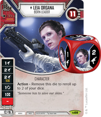 Leia Organa - Born Leader (Sold with matching Die)