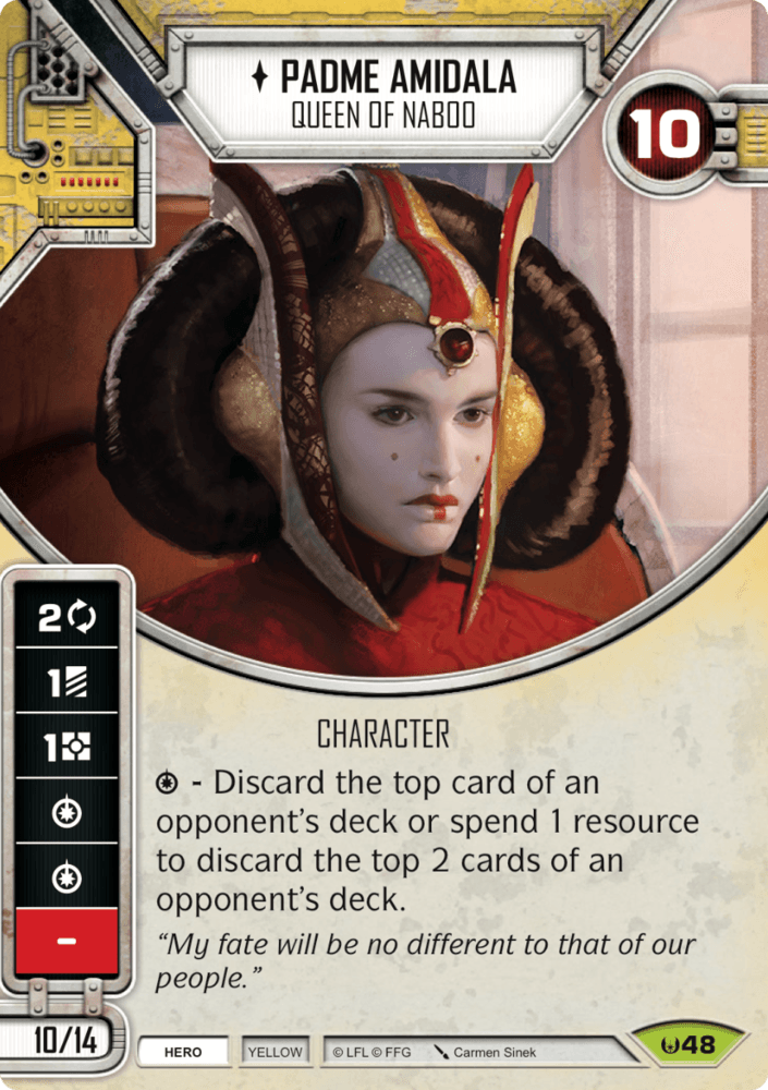 Padme Amidala - Queen of Naboo (Sold with matching Die)