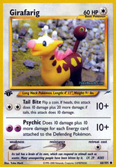 Girafarig - 66/105 - Common - 1st Edition on Channel Fireball