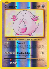 Chansey - 70/108 - Holo Rare - Reverse Holo on Channel Fireball