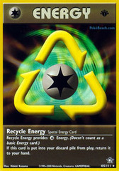 Recycle Energy - 105/111 - Rare - 1st Edition