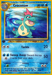Croconaw - 32/111 - Uncommon - 1st Edition