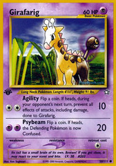 Girafarig - 58/111 - Common - 1st Edition