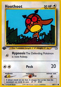 Hoothoot - 60/111 - Common - 1st Edition