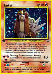 Entei - 6/64 - Holo Rare - 1st Edition